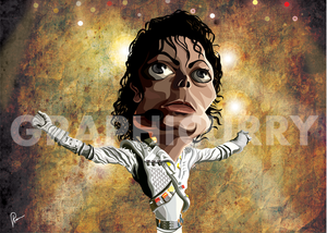 Michael Jackson Tribute Wall Art by Graphicurry