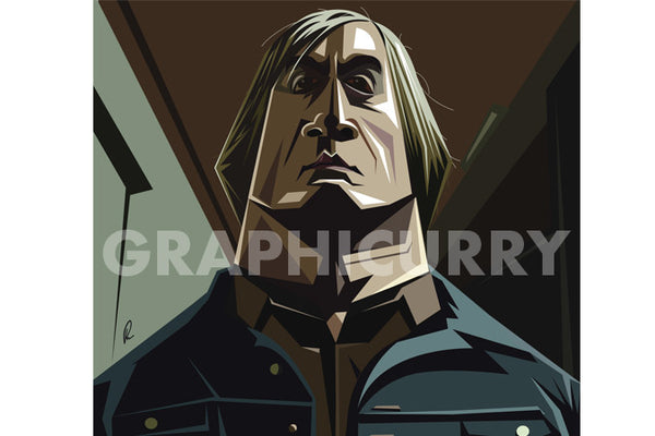 No Country For Old Men Tribute Wall Art by Graphicurry