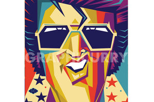 Elvis SquarePop Art by Graphicurrry