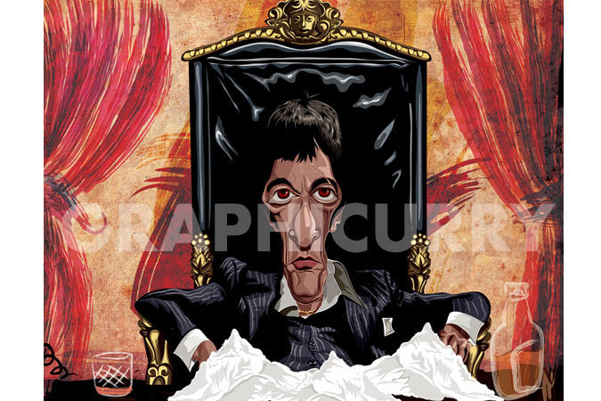 Scarface Wall Art by Graphicurry