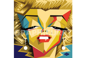 Monroe SquarePop Art by Graphicurry