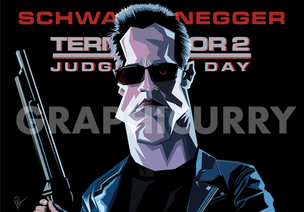 Terminator Wall Art by Graphicurry