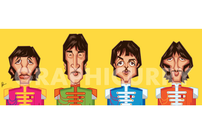 Beatles Tribute Wall Art by Graphicurry