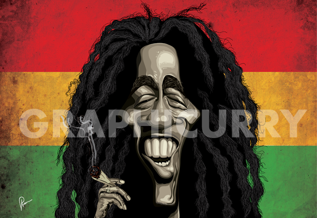 Bob Marley Wall Art by Graphicurry