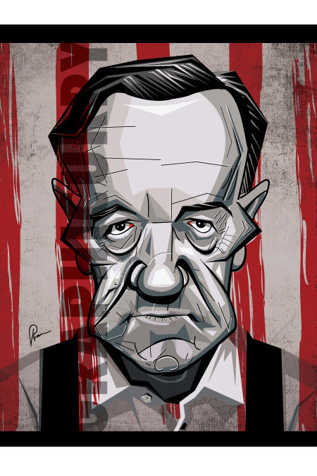 F Underwood Wall Art by Graphicurry