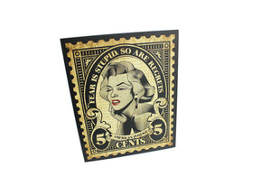 Monroe Stamp Wall Art