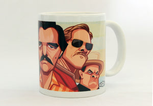 Narcos Coffee Mug. Caricature Art of Pablo Escobar by Prasad Bhat, Graphicurry