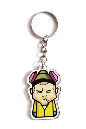 Pinkman Keychain by Graphicurry