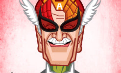 caricature tribute to Stan Lee, the father of Marvel