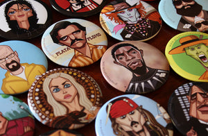 Pin badges by Prasad Bhat Graphicurry