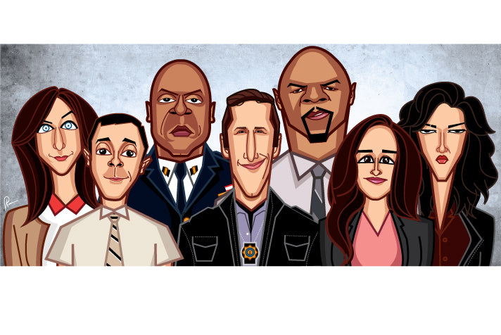 Brooklyn 99 caricature art tribute by Prasad Bhat