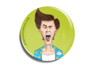 Jim Carrey Badge Prasad Bhat Art