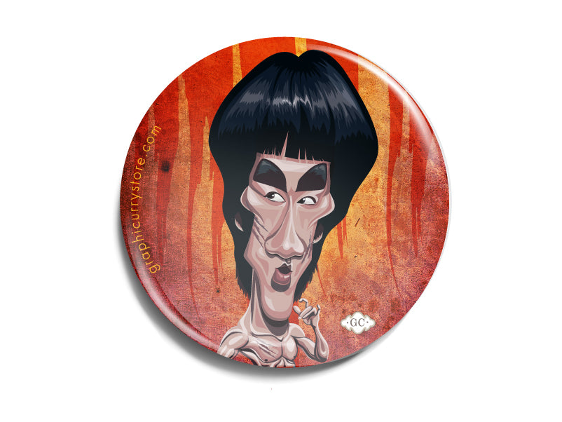 The Bruce lee Badge Prasad Bhat Art