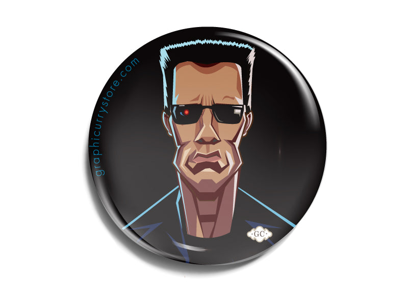 The Terminator Badge Prasad Bhat Art