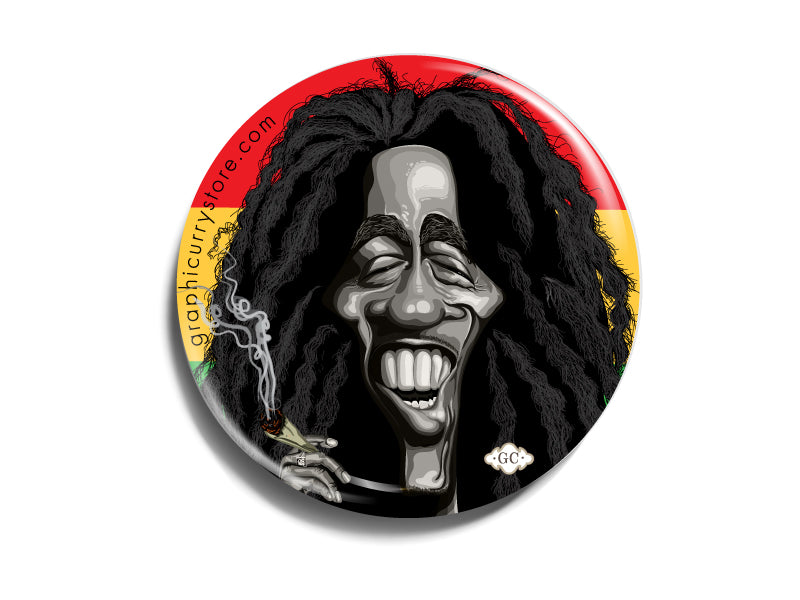 Bob marley Badge Prasad Bhat Art