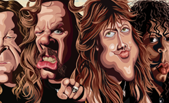 Metallica Wall Art by Graphicurry