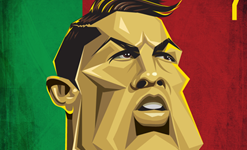 Ronaldo Wall Art by Graphicurry