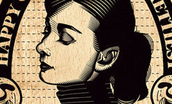 Audrey Hepburn artwork by Graphicurry
