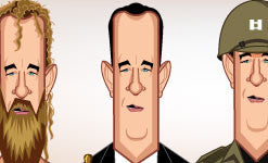 Evolution of T. Hanks