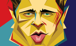 Brad SquarePop Art by Graphicurry