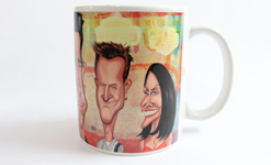 Friends Art Mug by Graphicurry