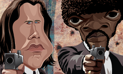 Pulp Fiction Wall Art by Graphicurry
