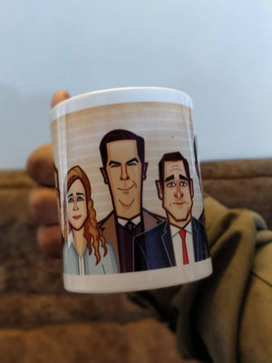 Caricature Mug of The Office by Prasad Bhat