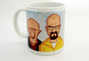 Walter White in Breaking Bad Coffee Mug with Caricature Art by Prasad Bhat.