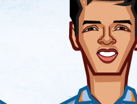 Caricature tribute by artist Prasad Bhat to Rahul Dravid