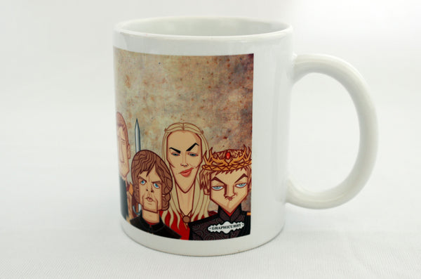 Cersi and Joffery in Game of Thrones tribute art on Coffee Mug by Graphicurry, art by Prasad Bhat.