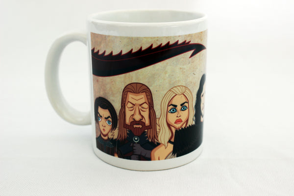 Arya Stark in Game of Thrones tribute art on Coffee Mug by Graphicurry, art by Prasad Bhat.