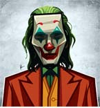 Joker Caricature Laminate Wall Art