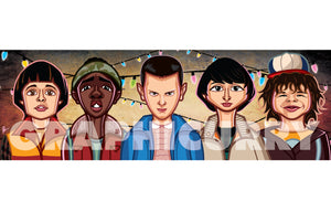 Caricature tribute to Stranger Things by Prasad Bhat