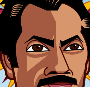 Scared Games Caricature tribute to Nawazuddin Siddiqui by Prasad Bhat
