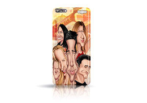 Buy Friends One plus Five phone case from Graphicurry. Caricature art by Prasad Bhat.