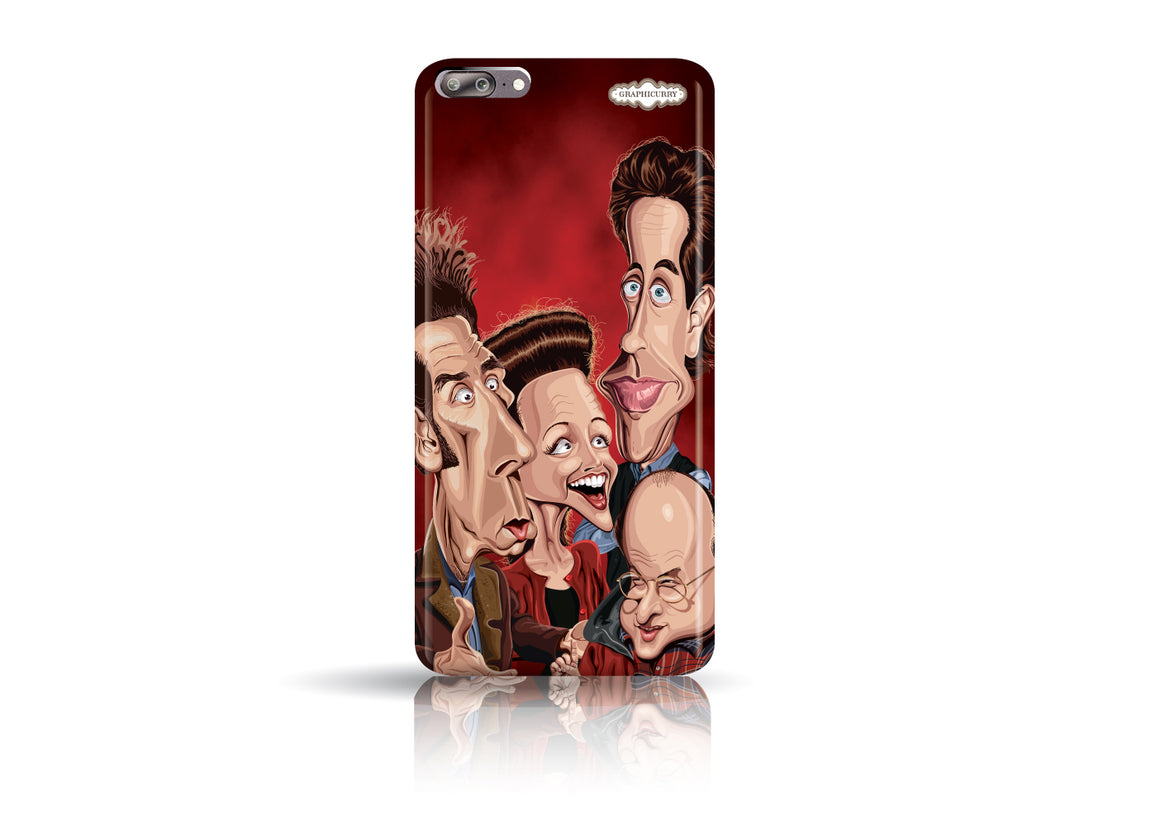 Seinfeld One Plus Five phone case from Graphicurry. Caricature art by Prasad Bhat.