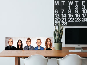 Desktop Laminate for Tribute to Suits characters by artist Prasad Bhat