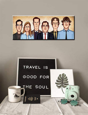 Tribute To Office Wall Art Laminate