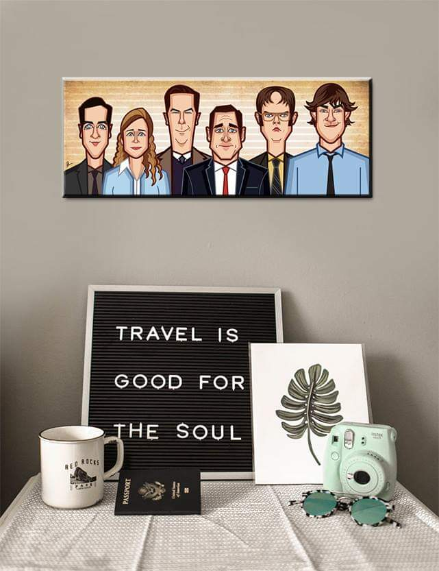 Tribute art by Prasad Bhat to all the Office characters