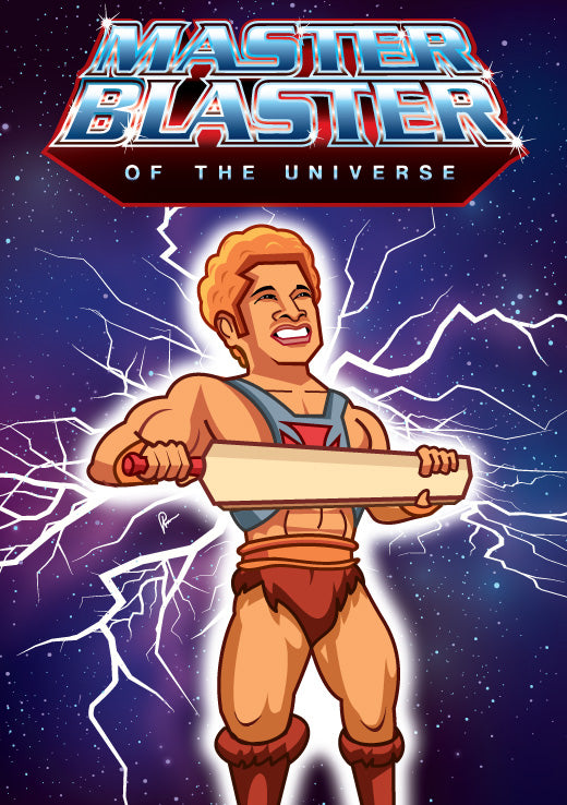 Master Blaster of the Universe artwork by Prasad Bhat.