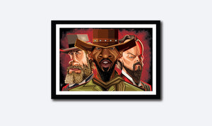 Thumbnail of Django Tribute Wall Art in a frame by Graphicurry