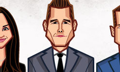 Tribute to Suits characters by artist Prasad Bhat