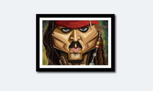 Thumbnail of Framed artwork of The Pirate by Prasad Bhat, Graphicurry
