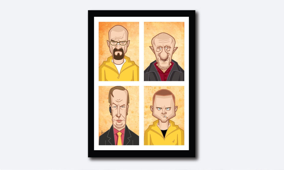 Walter, Pinkman and others Poster - Graphicurry Store