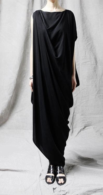 Original Viscose Copper Ammonia Ofelya Jersey Cotton Asymmetrical Oversized Long Tuic Top Jersey Kaftan Maxi Dress