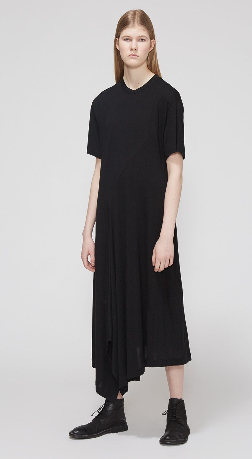 YHJI YAMAMTO Asymmetrical Hem Dress / Plus Size