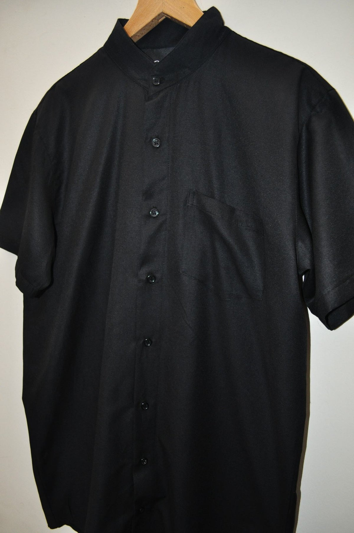 Men's Overlong Oxford Cotton Short Sleeve KW Style Shirt