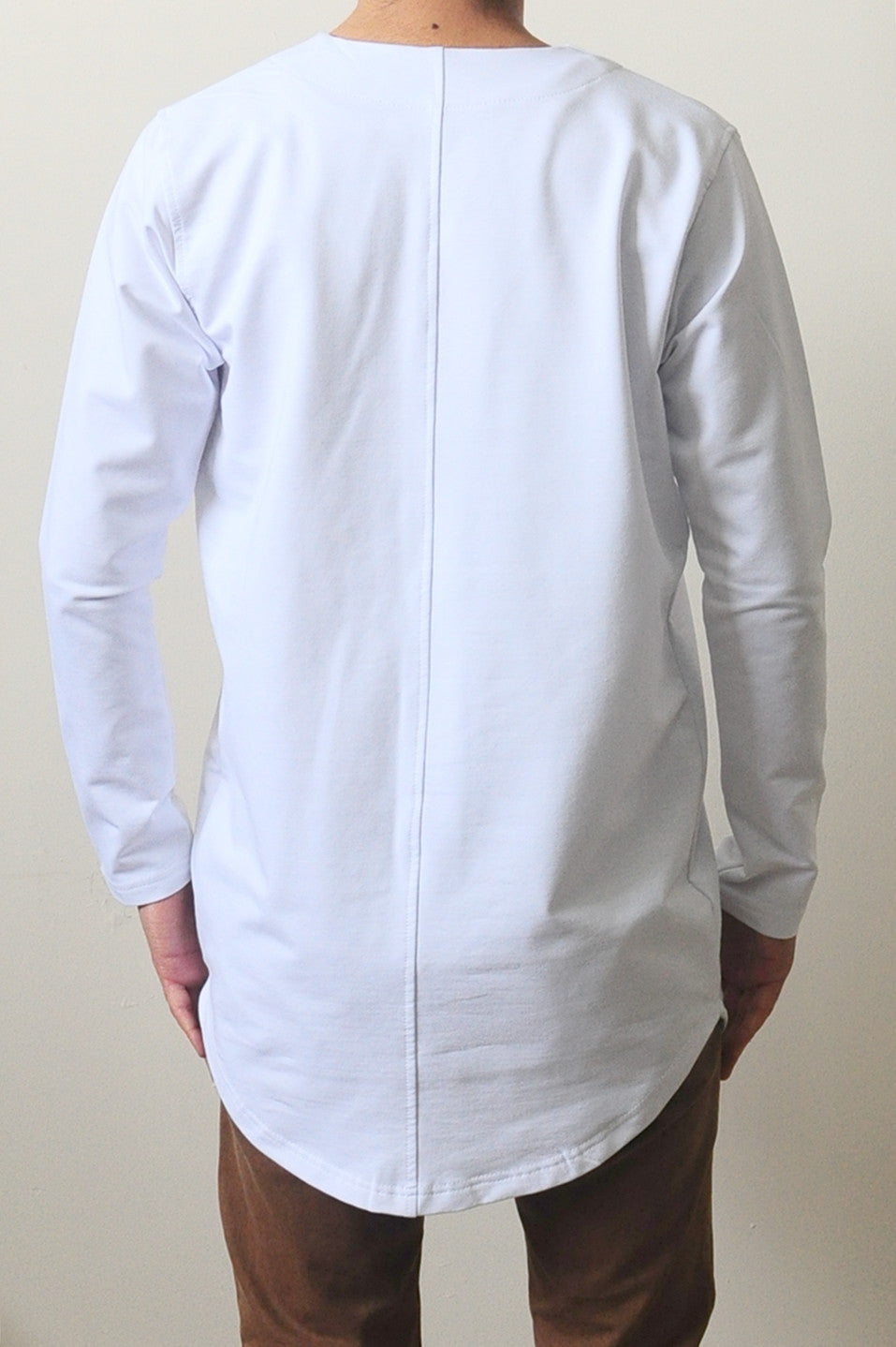 Essential Baseball Round Neck Front Button Jersey Shirt Long Tshirt