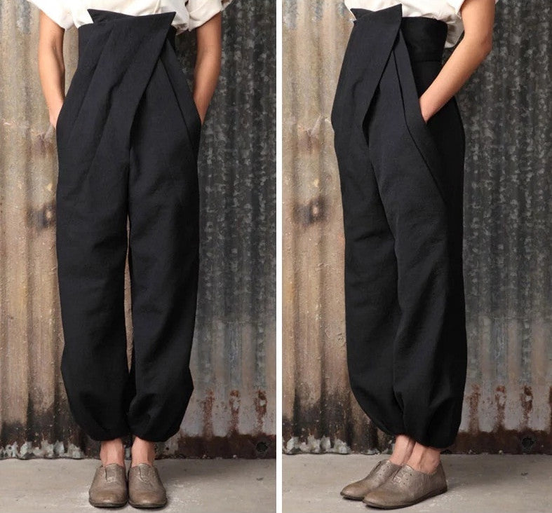 Awesome Pieces Three-Dimensional Cut Pants High Waist Trousers Wide Leg Pants -  Women's Casual Pants Carrot Pants