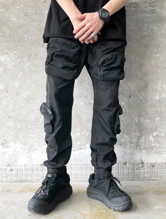 Multi-Pocket on Sides / Adjustable Velcro at the Trousers Casual Cargo Pants Jogger / Lounge Pants